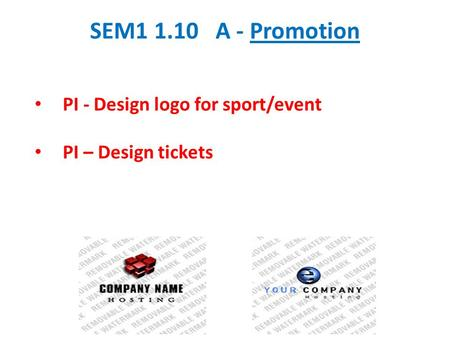SEM A - Promotion PI - Design logo for sport/event