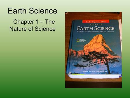 Chapter 1 – The Nature of Science