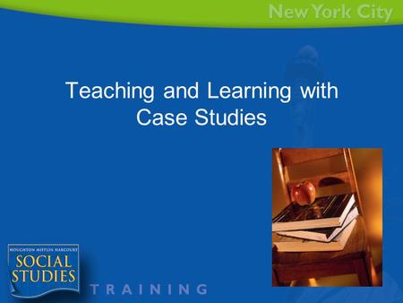 Teaching and Learning with Case Studies. Agenda Understand how a case study is different How to effectively use a case study How to expand a case study.