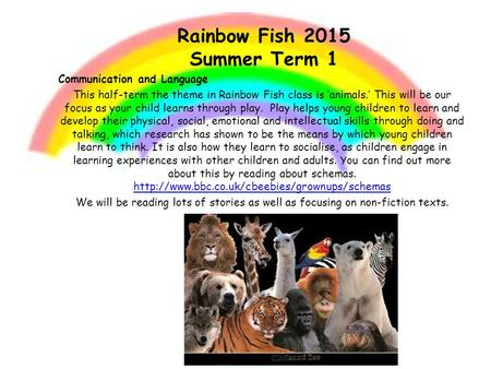 Rainbow Fish 2015 Summer Term 1
