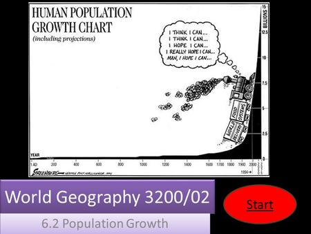 World Geography 3200/02 6.2 Population Growth Start.