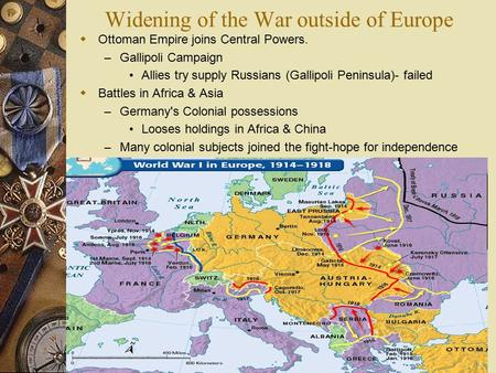 Widening of the War outside of Europe