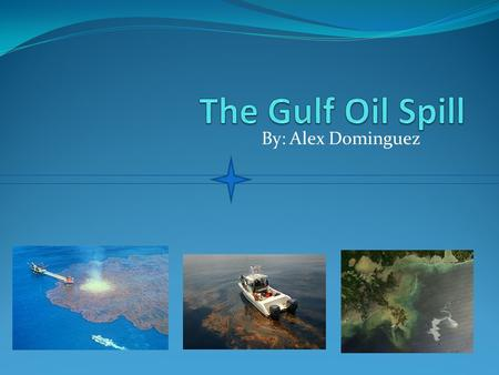 The Gulf Oil Spill By: Alex Dominguez.