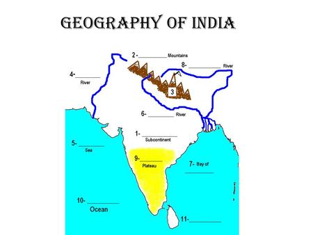 Geography of India.