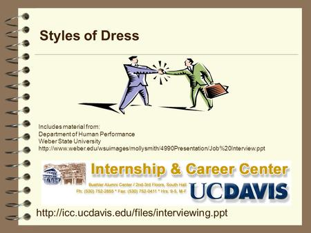 Styles of Dress  Includes material from: Department of Human Performance Weber State University