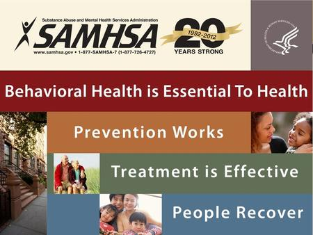 1. 2 BEHAVIORAL HEALTH OF PARENTS/CAREGIVERS: IMPACT ON CHILDREN IN CHILD WELFARE SYSTEM Pamela S. Hyde, J.D. SAMHSA Administrator Regional Partnership.