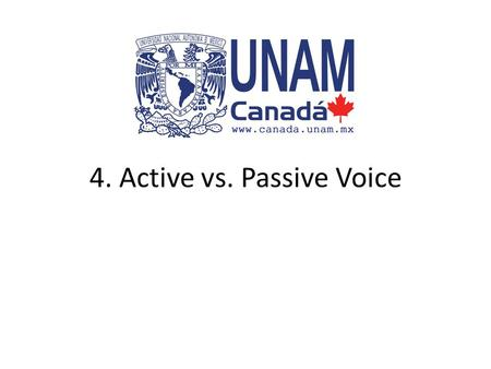 4. Active vs. Passive Voice