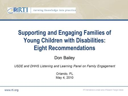 USDE and DHHS Listening and Learning Panel on Family Engagement