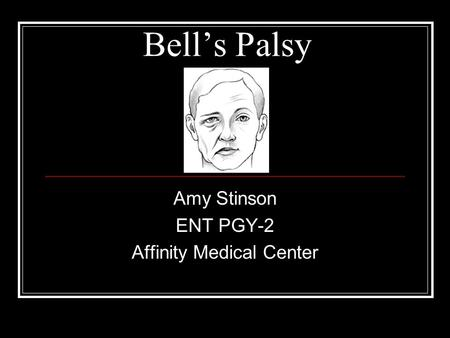 Amy Stinson ENT PGY-2 Affinity Medical Center