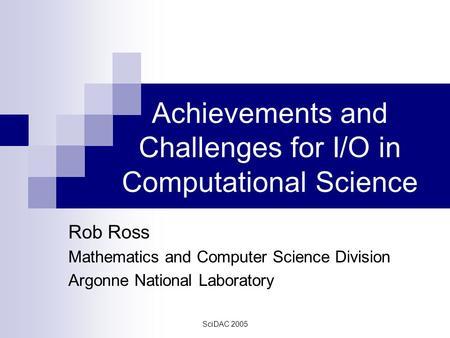 Adios jay lofstead flexible io and - Div computer science ...