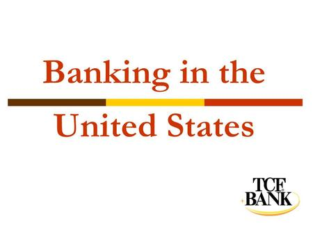 Banking in the United States