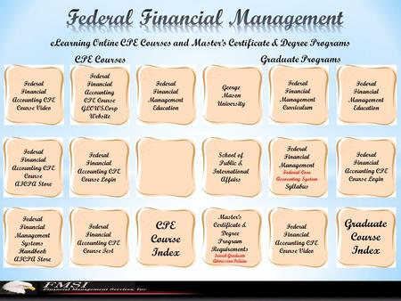Federal Financial Accounting CPE Course Video eLearning Online CPE ...