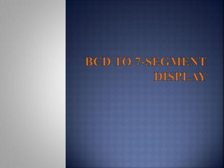 BCD to 7-Segment Display