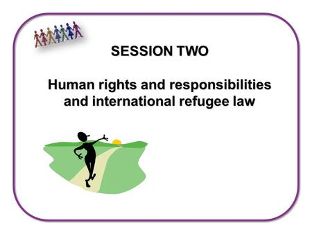 SESSION TWO Human rights and responsibilities and international refugee law.