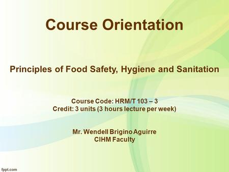 Bar Operations And Management Lecture Ppt Download