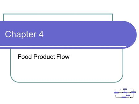 Chapter 4 Food Product Flow.