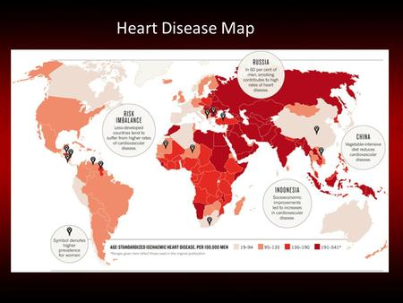 Heart Disease Map.