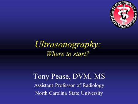 Ultrasonography: Where to start?