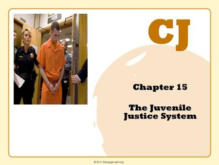 CJ © 2011 Cengage Learning Chapter 15 The Juvenile Justice System.