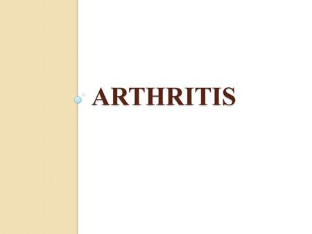 ARTHRITIS. Osteoarthritis is a degenerative joint disease is the most common joint disorder. It is a frequent part of aging and is an important cause.