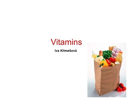<strong>Vitamins</strong> Iva Klimešová. The discovery of the first <strong>vitamin</strong> was published in 1911 by a Polish biochemist, Casimir Funk. The term <strong>vitamine</strong> is derived from.