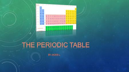 The periodic table is similar to a big grid that represents elements. It is a chart that shows people all the elements that have been discovered.