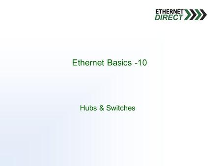 Hubs & Switches Ethernet Basics -10. There is only so much available bandwidth, in some instances it can be dynamic An overabundance of data on the network,
