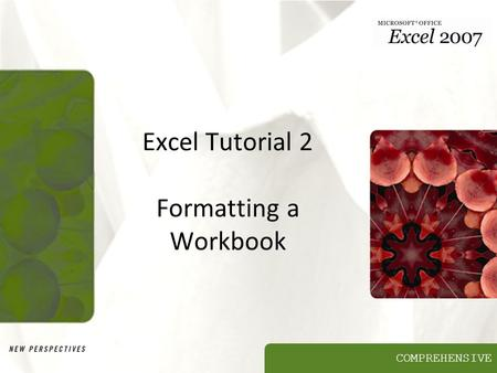 COMPREHENSIVE Excel Tutorial 2 Formatting a Workbook.