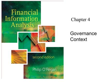 Chapter 4 Governance Context.