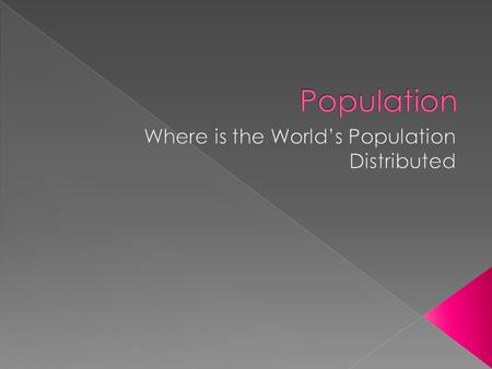 Where is the World's Population Distributed
