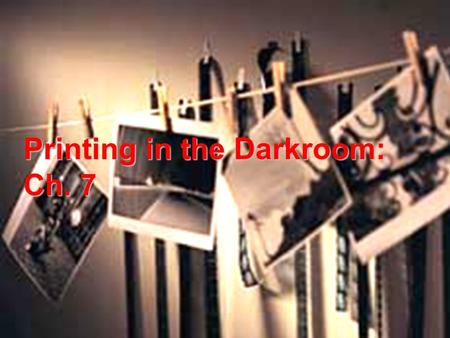 Printing in the Darkroom: Ch. 7. Physical Characteristics of Paper Texture: The surface pattern of a paper. Ranges from smooth to slightly rough. Some.