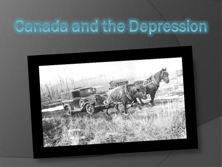 Canada and the Depression