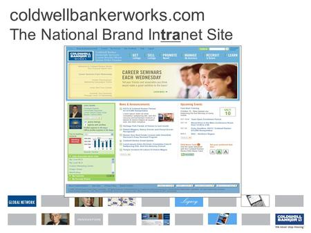 GLOBAL NETWORK coldwellbankerworks.com The National Brand Intranet Site.