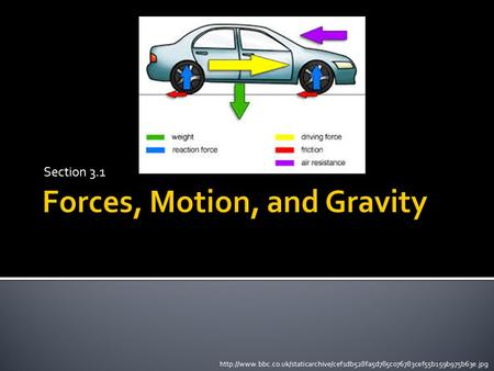 Forces, Motion, and Gravity