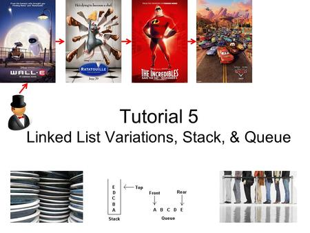 Tutorial 5 <strong>Linked</strong> <strong>List</strong> Variations, Stack, & Queue.