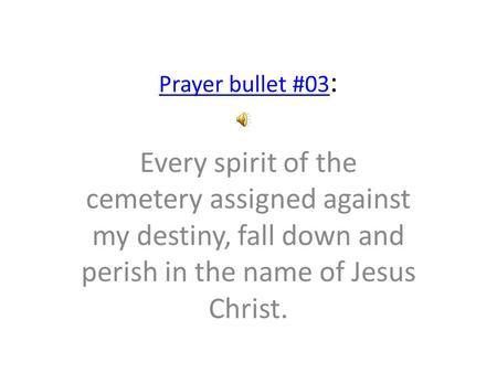 Prayer bullets from Elisha Goodman - ppt video online download