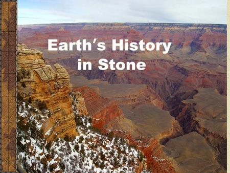 Earth's History in Stone