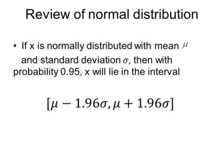 Review of normal distribution. Exercise Solution.