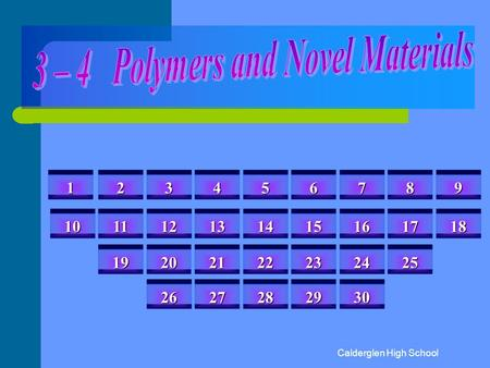 3 – 4 Polymers and Novel Materials