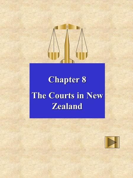 Chapter 8 The Courts in New Zealand. District Court High Court Court of Appeal Privy Council Family Court Disputes Tribunal Other Specialist Courts Finis.