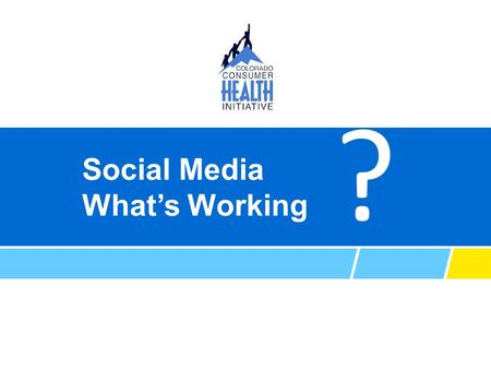 Social Media What's Working ?. AS TOLD BY: Adam Fox Director of Strategic Engagement Austin Montoya Social Media and Online Coordinator.