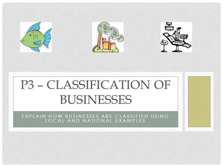 P3 – Classification of Businesses