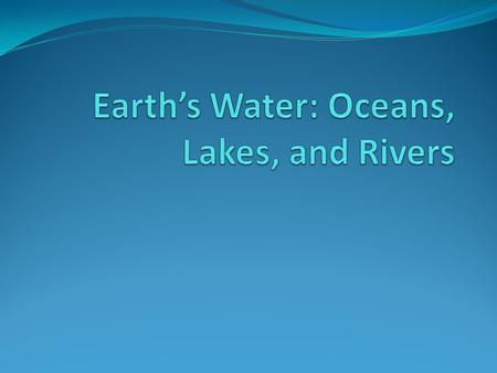 Oceans Oceans cover 75% of the surface of the earth and make up 97% of all the water on earth. Ocean water contains dissolved gases such as oxygen, carbon.