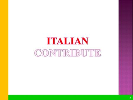 1. 1. OLD Italian SYSTEM 2 INDIRIZZO ECONOMICO-AZIENDALE Economics Maths History Italian language and literature Science Subject x 4e - 5e Project area,