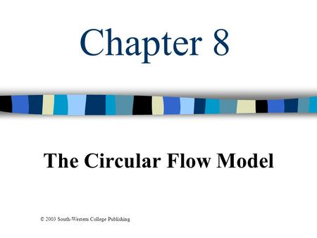 Chapter 8 The Circular Flow Model © 2003 South-Western College Publishing.