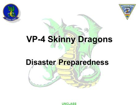 VP-4 Skinny Dragons <strong>Disaster</strong> Preparedness UNCLASS.