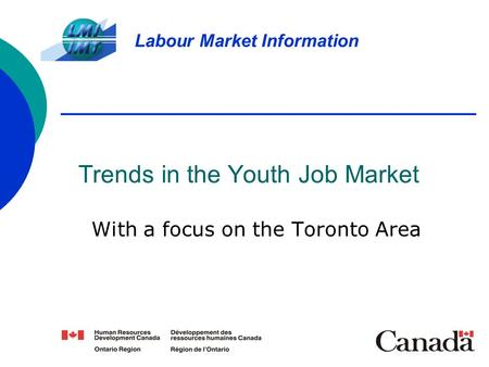 Trends in the Youth Job Market