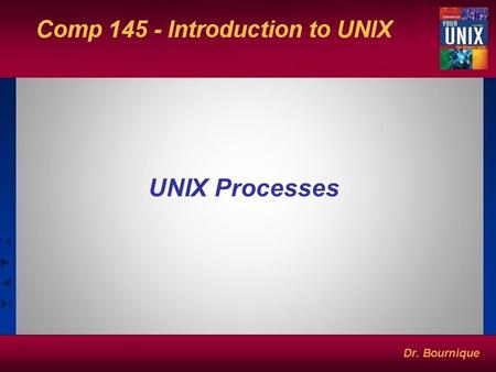 UNIX Processes. The UNIX Process A process is an instance of a program in execution. Created by another parent process as its child. One process can be.