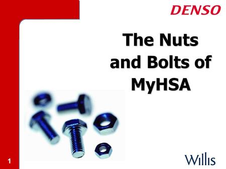 1 The Nuts and Bolts of MyHSA. 2 2 MyHSA High Deductible Insurance High Deductible Insurance Health Savings Account (HSA) Health Savings Account (HSA)