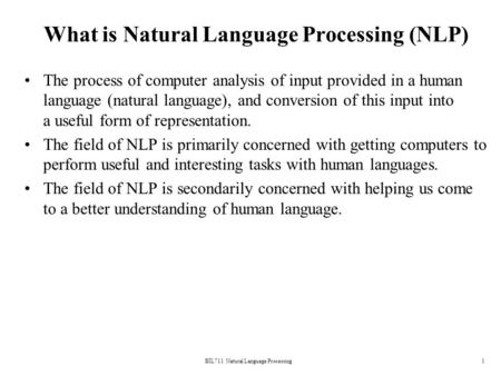What is Natural Language Processing (NLP)